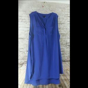 Plus size 3x sleeveless dress purple blue w pocket